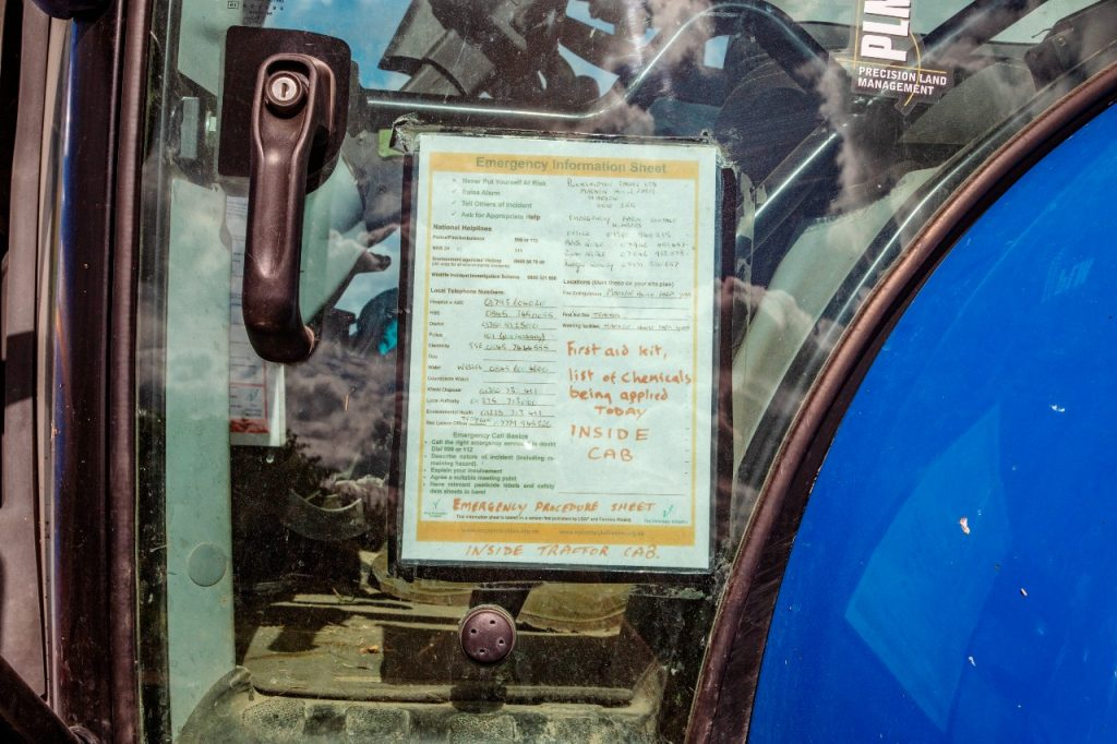 Cab sheet for emergencies